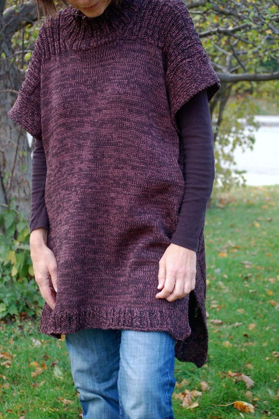 Tunic Sweater Knitting Pattern : Easy to knit Tunic Tunic sweater In Tune Tunic Simple to