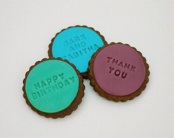 Personalised Message Cookies / Birthday / Thank You / I Love You