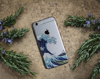 WAVE PHONE CASE, The Great Wave off Kanagawa iPhone 6 7 Plus Case Design