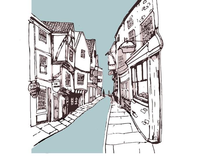 The Shambles, York Print - A4