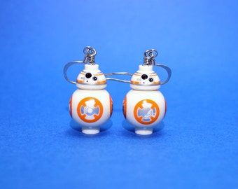 Earrings made from Genuine Star Wars BB-8® LEGO® Pieces - LIMITED