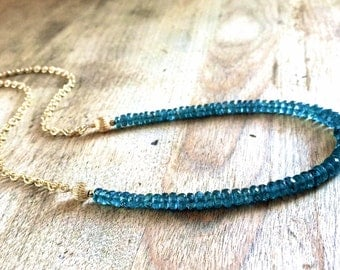 Faceted Kyanite Gemstone Necklace