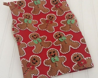 Gingerbread Tea Towel Christmas Hostess gift Under 20 gift Gingerbread decor Cookie wrap