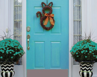 Halloween Wreath - Halloween Decor - Black Cat Wreath