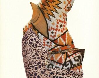 S A L E  Autumn Wardrobe Surreal Collage