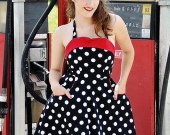 "I Love LUcy"" style retro pin up dress"