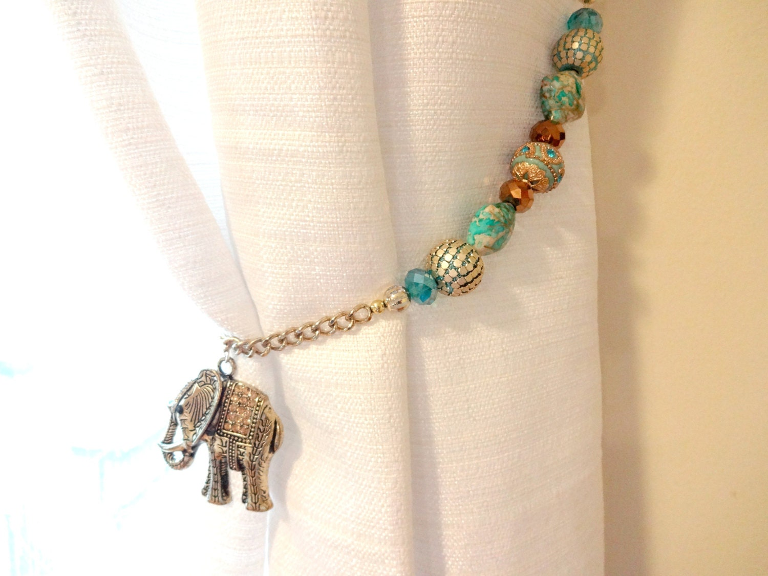 curtain tie backs beaded curtain tiebacks elephant by