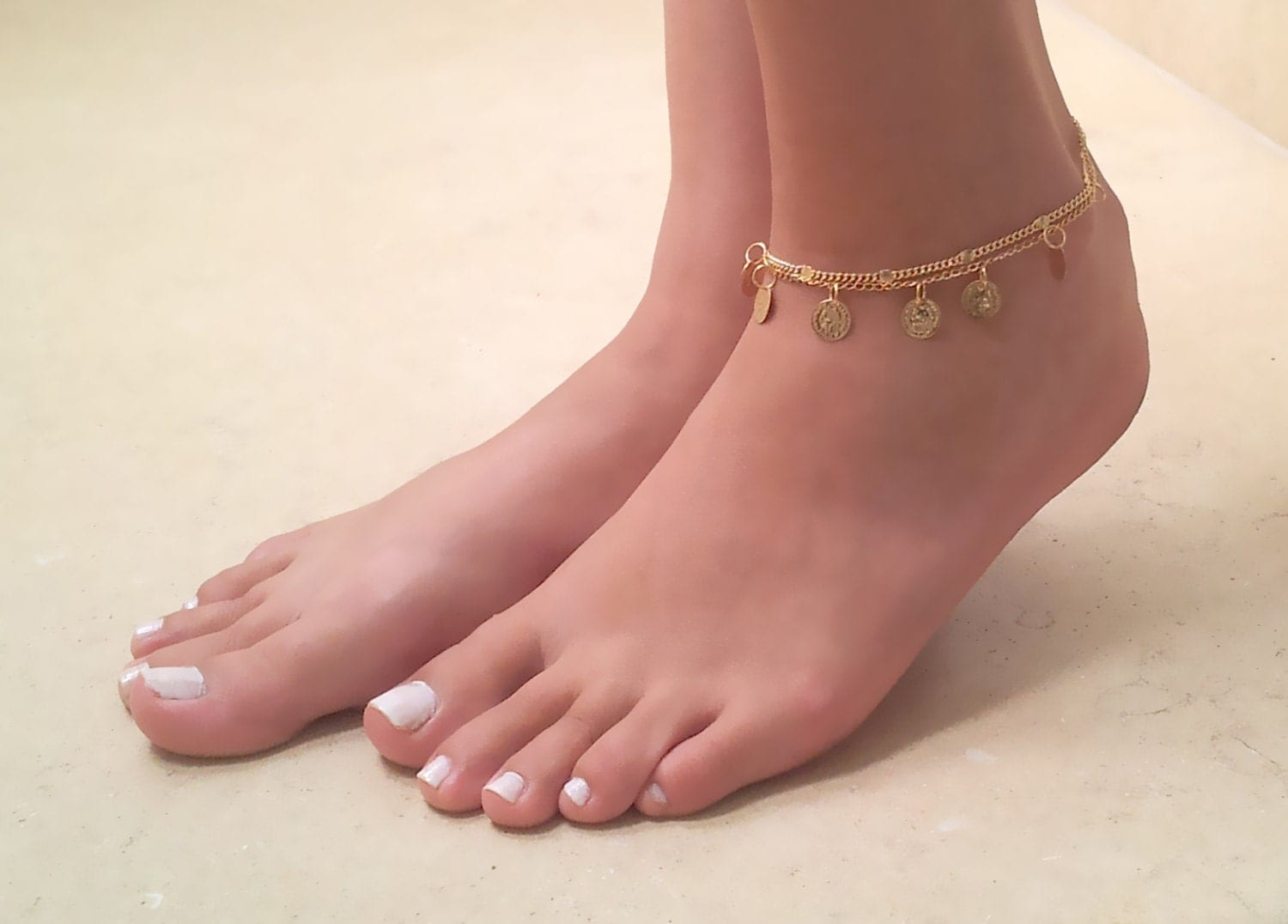 Wedding Foot Jewelry gold coin anklet bracelet ankle
