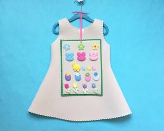 Girls Easter Dress, Handmade Easter Bunny Dress, Girls Easter Outfit, Easter Dress Up Clothes, Handmade Girls Costume, Girls Easter Gift