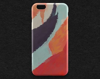 Painted iPhone Case Watercolor iPhone 7 Case Orange iPhone 7 Plus Style Fashion iPhone 6 Plus Case iPhone 5 iPhone SE iPod Galaxy S6 S7 Case