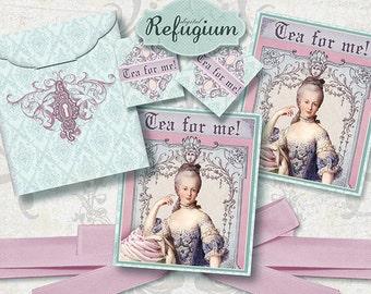printable Tea Bag Envelope   tea for me  / Digital Collage Sheet /  INSTANT DOWNLOAD