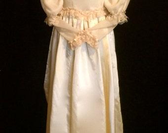 Vintage 80's Retro Victorian Wedding Gown             VG184