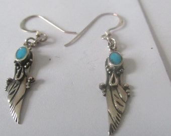 Turquoise earrings, Turquoise jewelry, sterling silver earrings, sterling silver jewelry, .925 Turquoise earrings, .925 Turquoise jewelry,