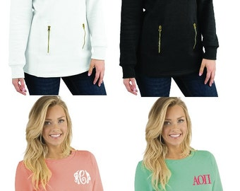 Monogrammed Sweatshirt | Preppy Personalized Charles River North Hampton Sweatshirt