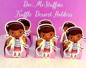 DOC MCSTUFFINS HOLDERS, Truffle Dessert Holders, Doc McStuffins Cups, Doc McStuffins Party Decor, Doc McStuffins Party Favors,Candy Holders.
