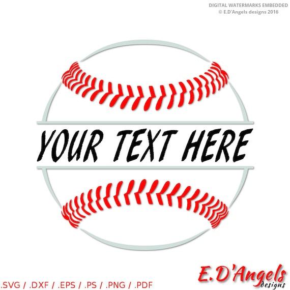 baseball monogram svg split monogram svg baseball