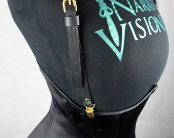Black Leather Corset Braces