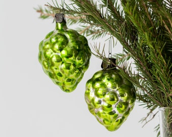 Mercury glass ornaments Christmas baubles Сhristmas glass ornaments Vintage Christmas balls Christmas decorations - set of 2