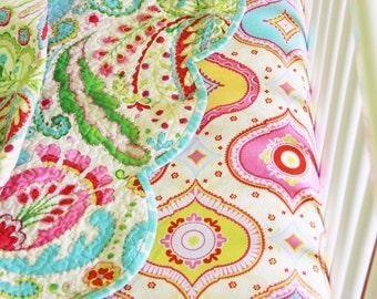 Kumari Garden Baby Girl Bedding, Toddler Girl Bedding, Floral Quilt, Kumari Garden Bedding, Crib Bedding Set, Kumari Garden by Dena Design