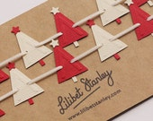 Beautiful Paper Christmas Tree Bunting/Garland for all festive occasions!!