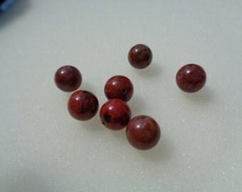 Red Jasper beads, 8mm