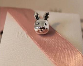 Authentic Genuine Pandora Remarkable Rabbit Silver Charm -791838 NEW