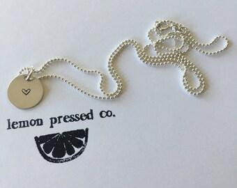 Tiny Heart Necklace //
