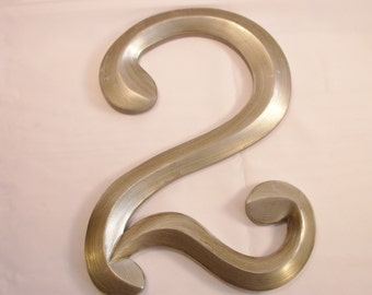"""Set of 3 Silvertone Decorative Numbers 13"""" Tall"""