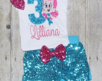 Bubble Guppies Birthday outfit! Bubble guppies birthday shirt, Bubble guppies birthday invitation, Bubble guppies party outfit, molly shirt