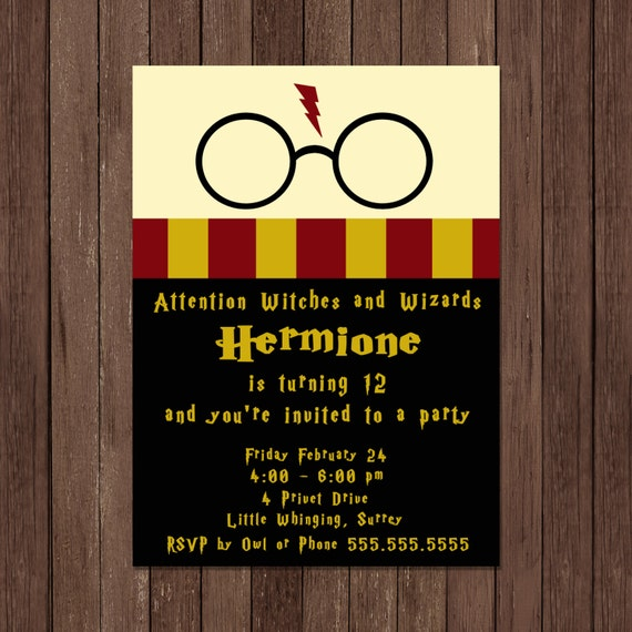 Exhilarating image with regard to free printable harry potter invitations