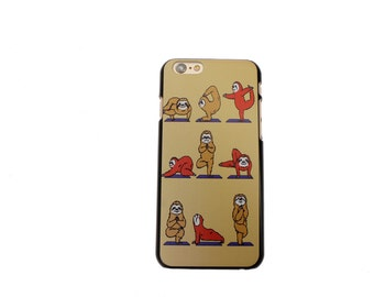 Cutie Yoga Sloth Snap On Case For iPhone 6/6s