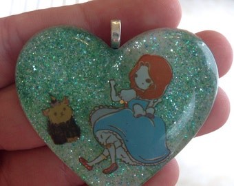 Dorothy and toto Wizard of Oz resin pendant/keychain