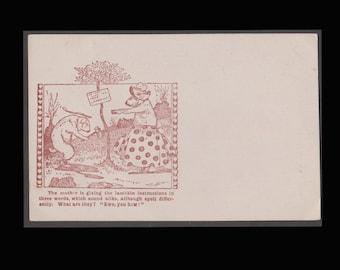 Edwardian Comic Vintage Postcard