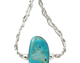 SAVE 15% Turquoise Silver Reversible Necklace