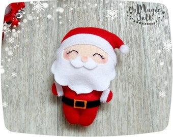 Christmas ornaments felt Santa ornament felt Christmas toy Santa Claus ornament new year gift Christmas tree ornaments Christmas gifts