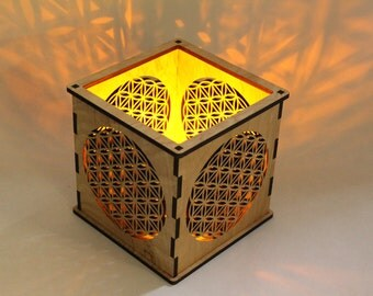 Flower of Life - Pillar Candle Holder