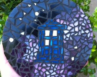 Small Doctor Who Tardis Galaxy Mosaic