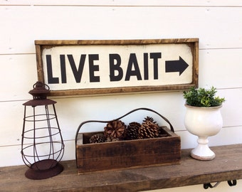 Live Bait Sign Fishing sign