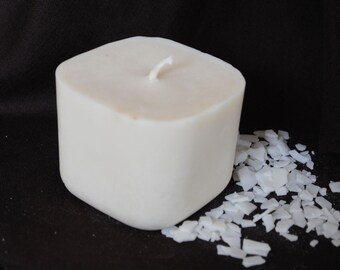 Large Soya Wax Candle - Xmas, Christmas Table Centre Piece - Gothic, Scary - Natural Colour