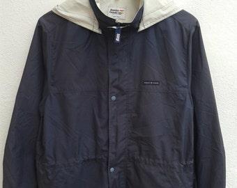 Vintage 90s United Colors Of Benetton Fomula 1 Cafe Racer Windbreaker Rain Coat Hooded Jacket