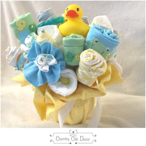 Baby Gift Bouquet New Zealand : New baby gift bouquet gender neutral rubber by