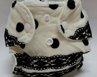 Newborn Lace Fitted or AIO Diaper