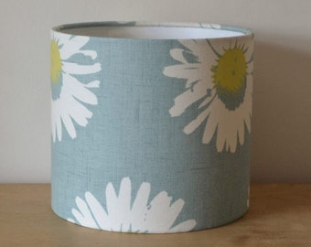 Blue Daisy 20cm Drum Lampshade