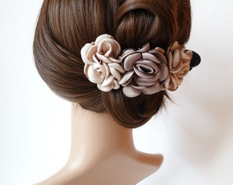 Rose Decorative 6 Prong Side hair Slide Jaw Claw Clip Clamp Flower Hair Accessories