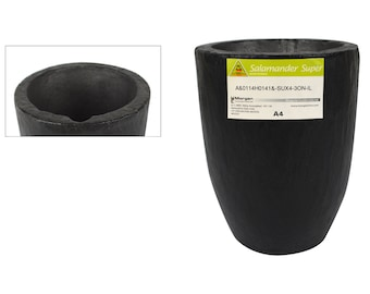 A4 5.6 Kg Salamander Crucible Super Clay Graphite For Melting and Casting Gold Silver Copper Brass Jewelry Making - CRU-0093