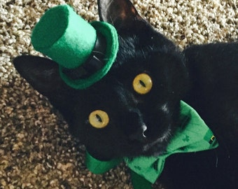 Gentleman's Bowler Top Hat  for small pet Cat Dog Hedgehog Vogue Guinea Pig black red green felt hat small animals Pinkismart