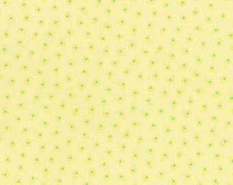 Flower Sugar Fabric Spring 2015 Lecien 31132L-50 BTY Tiny Yellow Floral