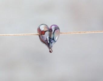 Handmade Glass Heart Focal Bead