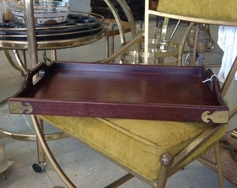 Mahogany Bombay Company Tray with brass corners