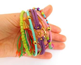 Friendship bracelet, colorful bracelet, friendship jewelry, handwoven, multicolor